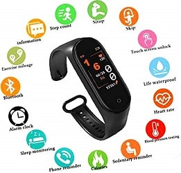 SBA999 ABM402 M4 Smart Fitness Band Tracker