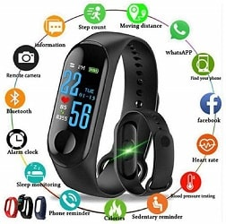 Smart Band Fitness Tracker Watch Heart Rate with Activity Tracker
