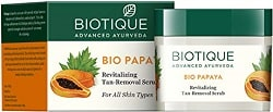 Boutique Bio Papaya Revitalizing Tan Removal Scrub