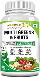 MuscleXP Multi Greens and Fruits Multivitamin