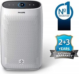 Philips AC1215-20 Air purifier, with 4-stage filtration, removes all airborne pollutants