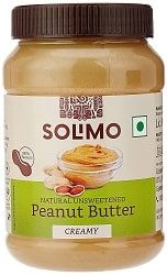 Solimo Natural Unsweetened Peanut Butter