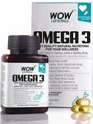 WOW Omega-3 Fish Oil Triple Strength 1000mg