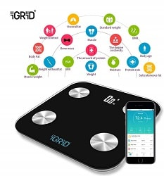 iGRiD Bluetooth Smart Body Fat Weight Scale