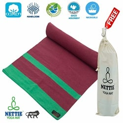 Nettie Handloom Cotton Yoga Mat