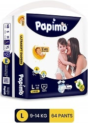 Papimo Baby Pants Diapers with Aloe Vera